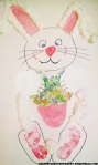 Foot print Easter Bunny craft