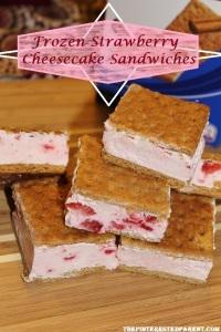 Frozen Strawberry Cheesecake Sandwiches