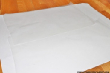 IMG_3285Lay down your drop cloth or newspaper & place wax paper on top of it.