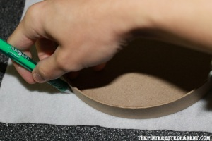Remove the top & trace out the outline of the top on a felt color of your choosing & then cut it out.