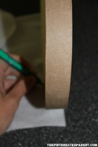 Measure out and mark the felt to cover the side of your box top as well.
