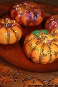Glitter pumpkins