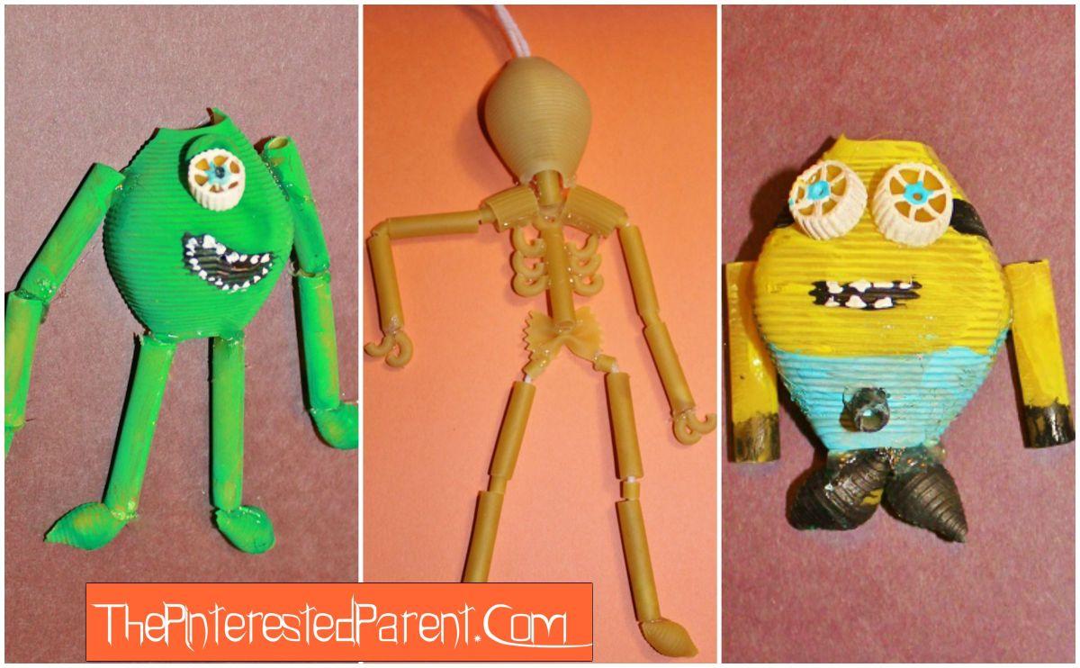Halloween Pasta Crafts